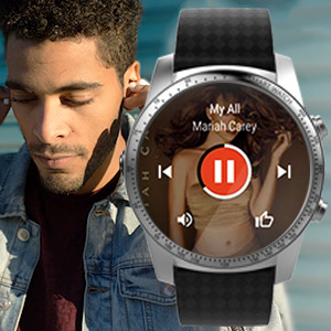 lisiten to music by smartwatch