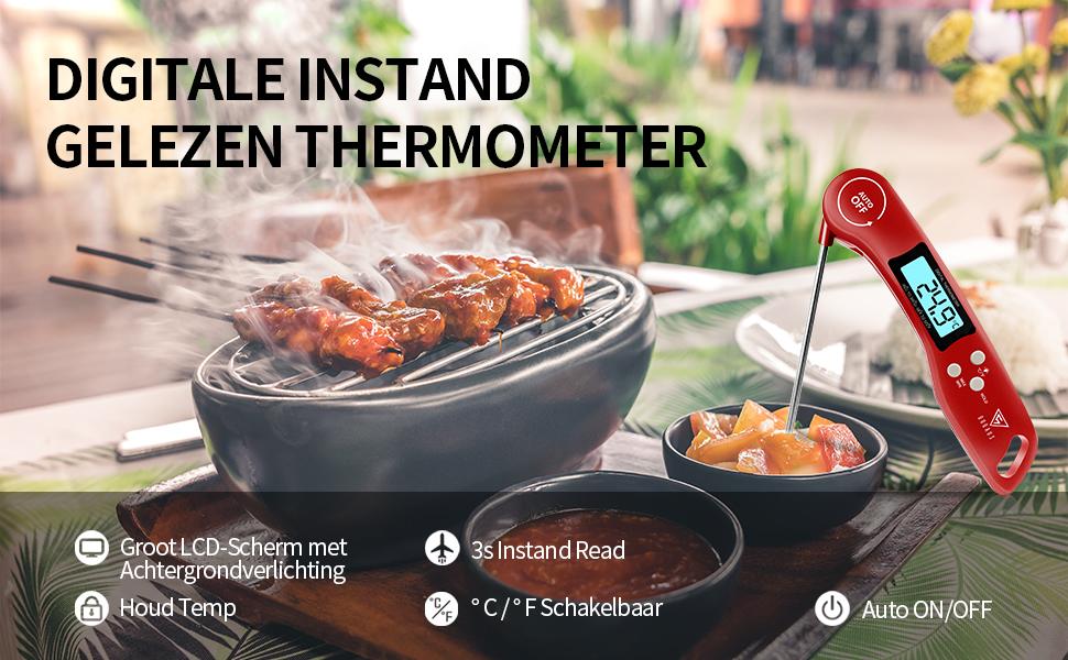 DOQAUS Digitale Vleesthermometer