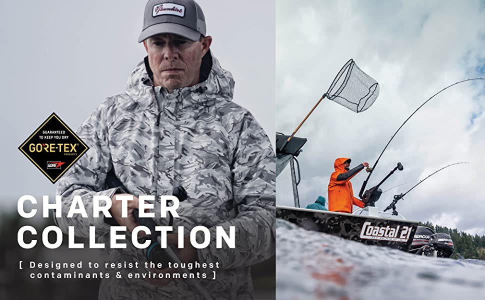 Grundens Charter GORE-TEX Fishing collection- any conditions on waters across the globe