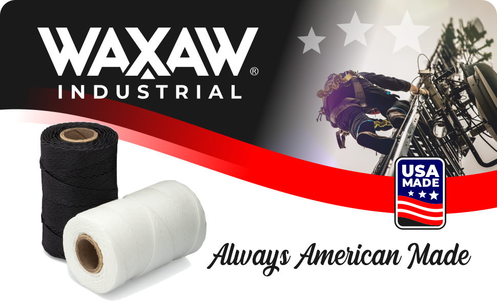 WAXAW Industrial black and white twine always american made
