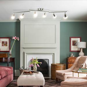 Wowatt Lámpara de techo LED Plafón con Focos Giratorios Lámpara de ...