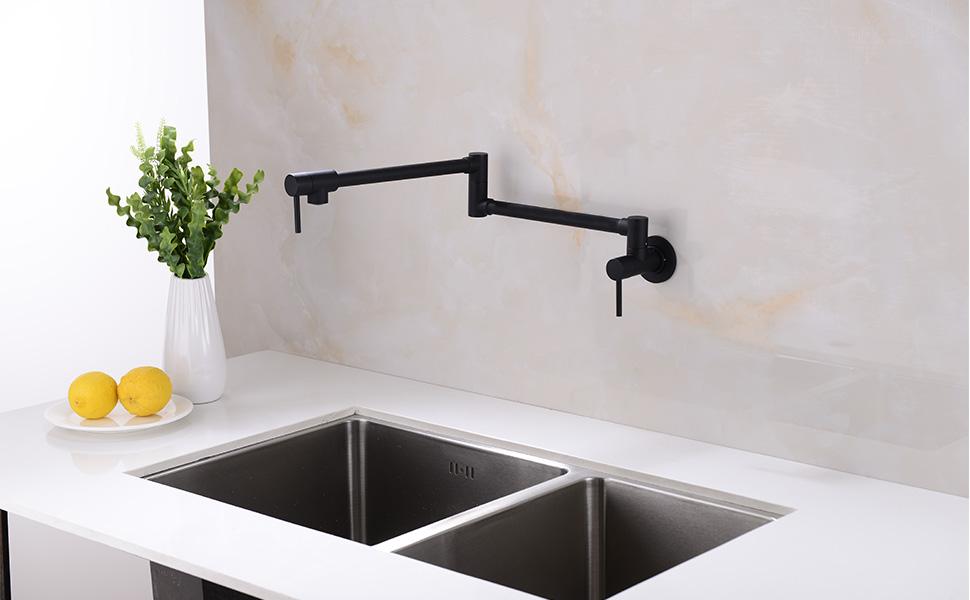 Kitchen Sink Pot Filler Faucets