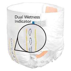dual wetness indicator