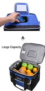 24 can large cooler bag
