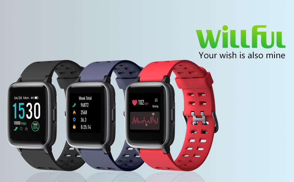 Willful Smartwatch Impermeable Reloj Inteligente con Pulsómetro ...