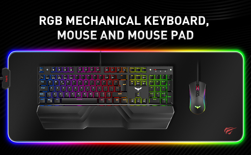 mechanical keyboard mouse and mouse pad