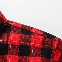 SSLR Camisa de Cuadros Le/ñador con Forro Polar T/érmico Invierno para Hombre