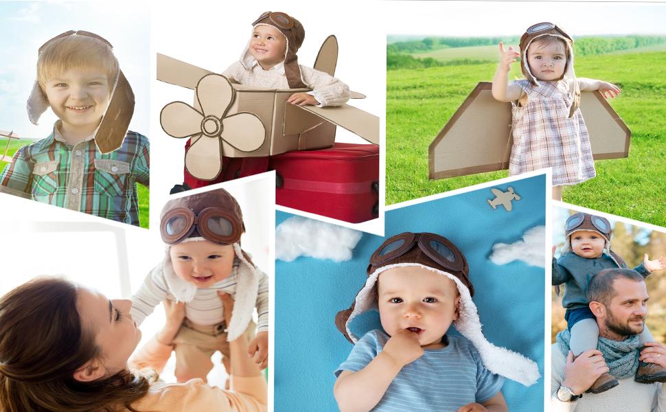 aviator costume boys baby pilot hat kids aviator hat airplane ride on toy baby aviators pilot goggle