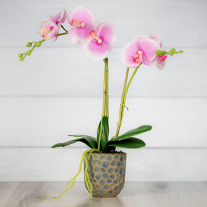 orchids artificial flowers, flower centerpieces for tables, artificial flowers with ceramic vase