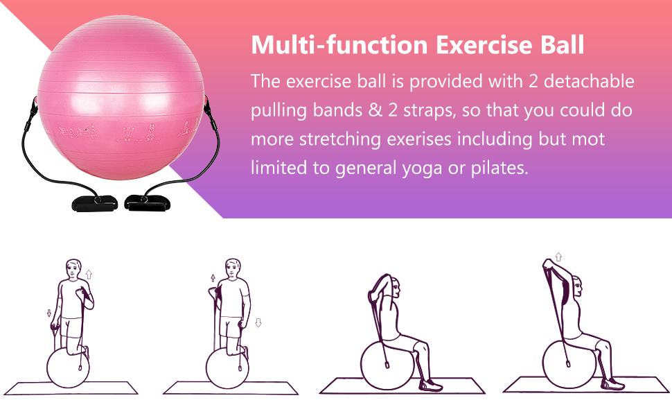 Yoga Ball Anti-Burst Slip-Resistant Yoga Balance Stability  Ball