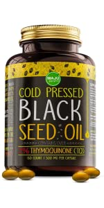 MAJU's Black Seed Oil: 3x% Thymoquinone, Cold Pressed, no