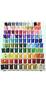 100 Colors Polyester Embroidery Thread Set