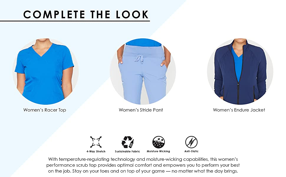 Complete the look suggestion panel with matching stride pant and endure jacket