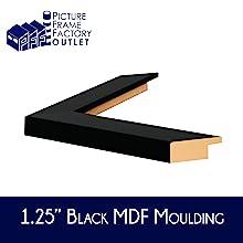 "Frame Profile: 1.25"" Flat Black"