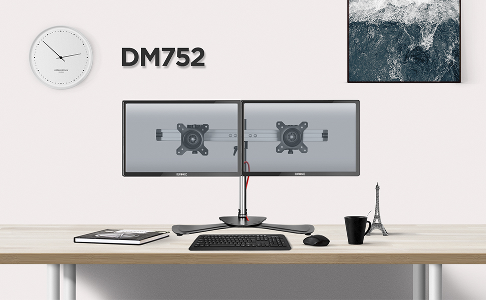 Duronic Dm752 Monitorhalterung Tischhalterung Standfuß Monitorständer Für Einen Lcd Led Computer Bildschirm Fernsehgerät Mit Neig Schwenk Und Rotierfunktion Küche Haushalt