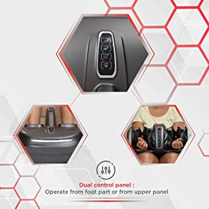 dual massage control panel for foot massager