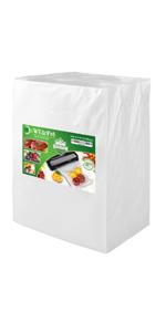 vacuum sealer bags precut quart pint gallon 11x16