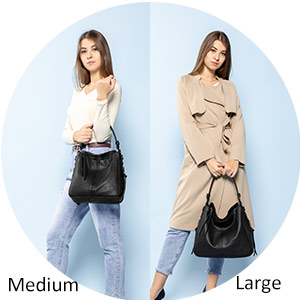 realer women handbag large handbag slouch bags for women large hobo black