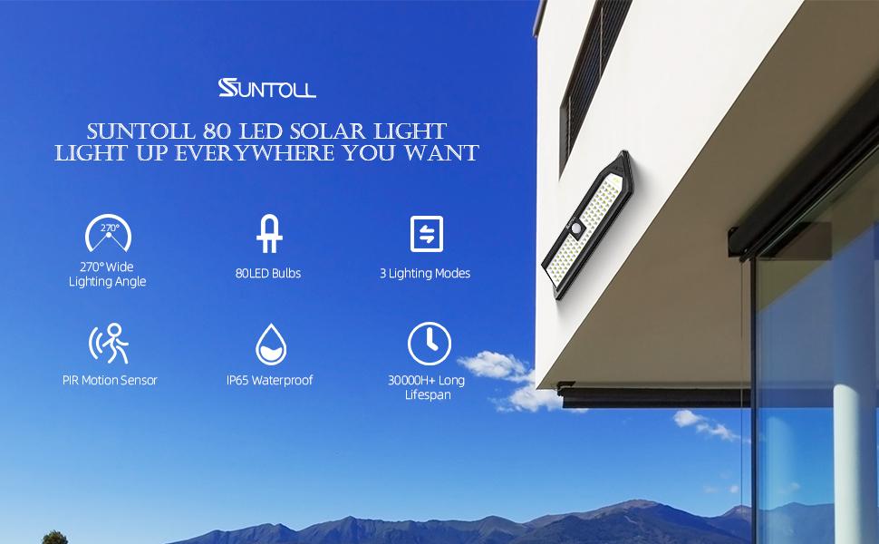 SUNTOLL 80LED SOLAR LIGHTS