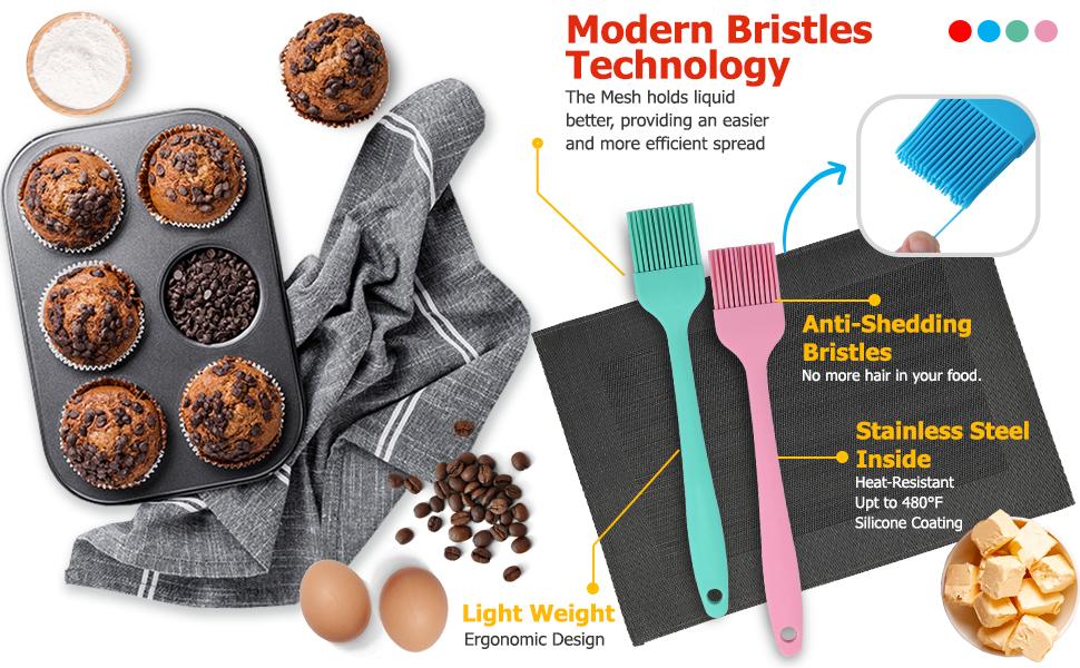 Pastry Brush,Basting Brush,Silicone Brush,Food Brush,Cooking Brush,Oil Brush,silicone Basting Brush