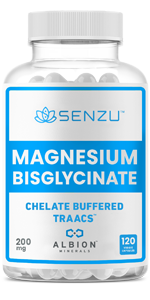 Magnesium Bisglycinate Chelate Buffered TRAACS 150x300 Stress Anxiety Sleep Aid Cramps Energy Canada