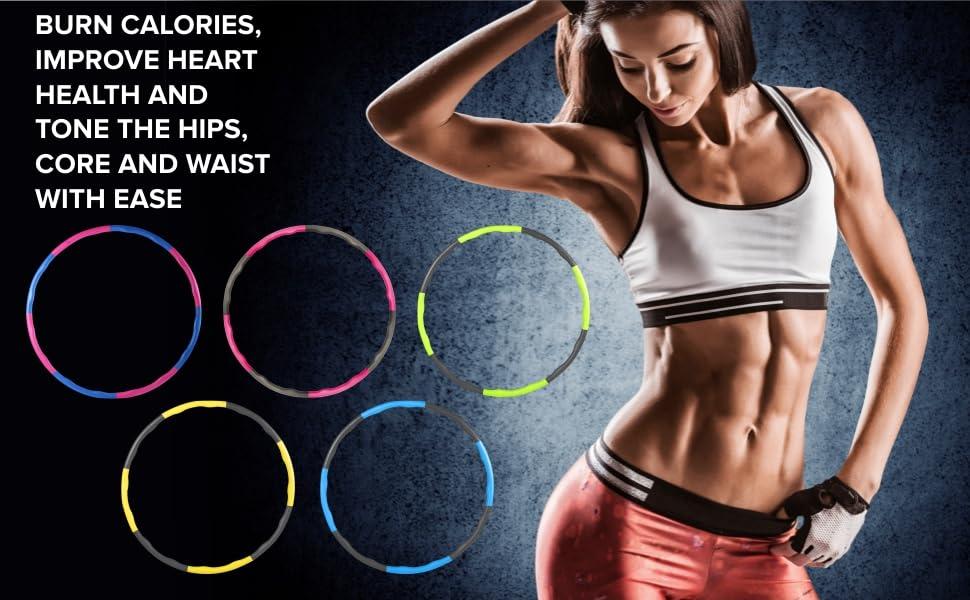 Aro (hula-hoop) con peso para adultos, adolescentes y niños Un aro grande revestido de espuma para practicar fitness. Ideal para niveles principiante ...