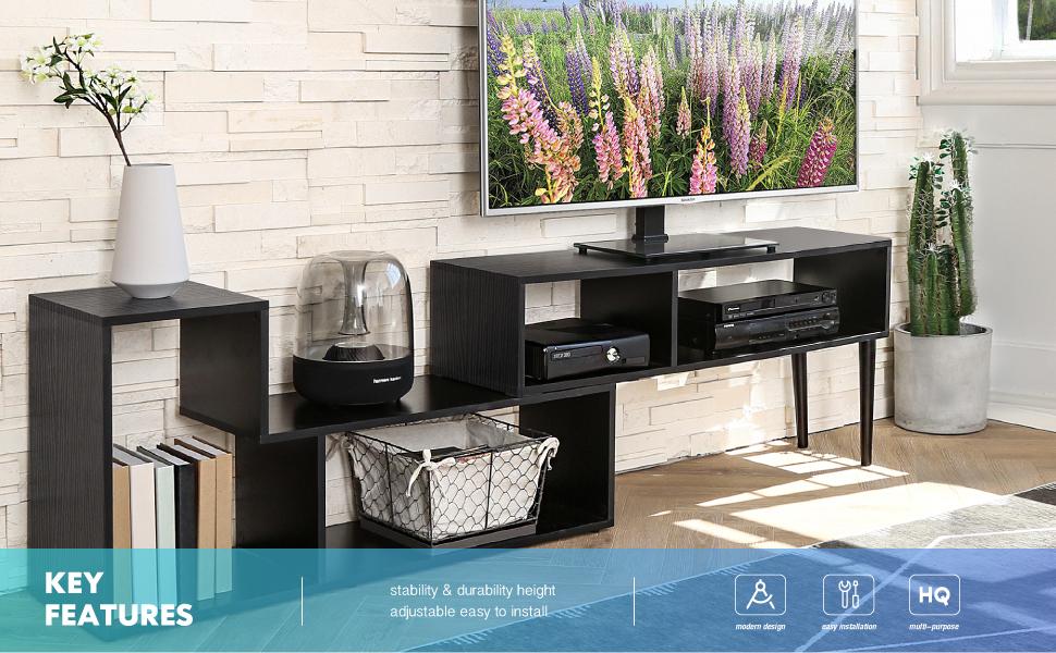 FITUEYES Mueble para TV de hasta 60 Pulgadas Mueble de salón ...