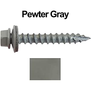 #12 Metal Roof Siding Screw Stainless Steel Roofing Screws w//EPDM Washer QTY1000