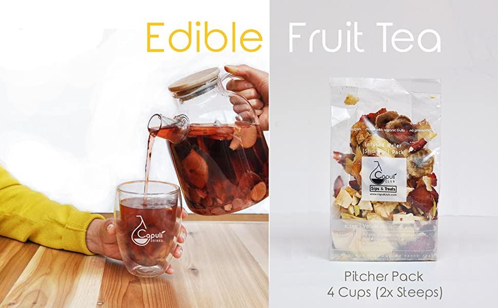 Edible Fruit Tea, Pitcher, Tea Gift Set, luxury tea