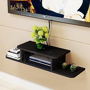 wall floating shelf bracket wooden for living room bedroom home decoration kitchen tv unit books