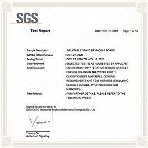 SGS CETIFICATE