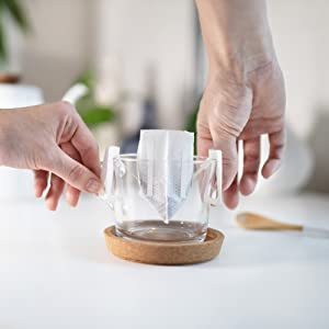 Set into cup