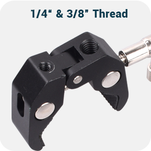 threads on clamp