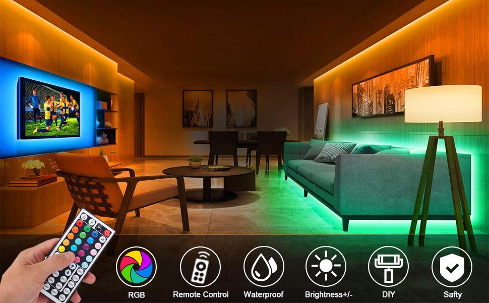 Tiras LED 10M 5050 RGB Tiras de Luces LED Iluminación con 300