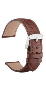 watch band strap belt leather bracelet replacement 14 18 19 20 21 22 black brown buckle men women