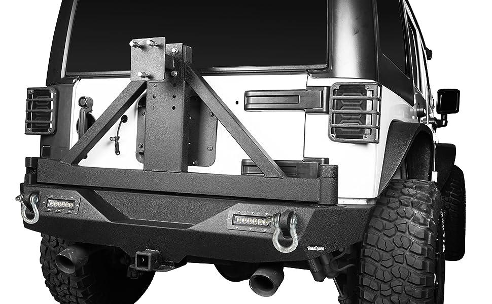 2007-2018 Jeep Wrangler JK Rear Bumper with TIre Arm Rack
