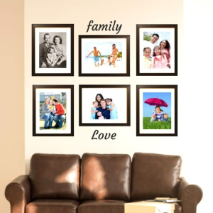 "wall collage picture frames tasse verre 9x12"" fits 6x8"" photo with included mat glass front cover"