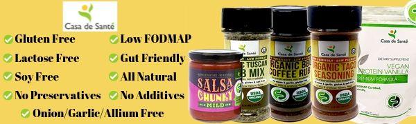 Casa de Sante Low FODMAP Foods