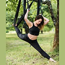 aerial yoga trapeze kit hanging yoga inversion tool fly yoga swing flying antigravity sling stretch
