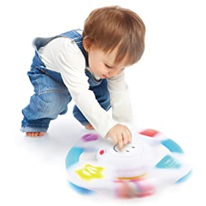 educational learning spin steering wheel colors shapes feelings music song sound babies toddlers