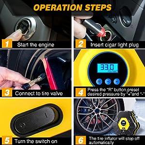 portable air compressor for car tires
