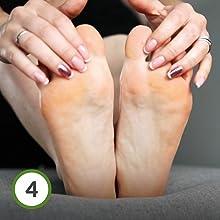 FitFoot exfoliante pies quita callos pies calcetines exfoliantes ...