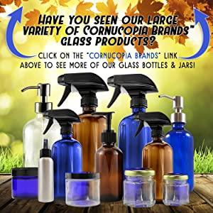cornucopia brands containers plastic glass jars bottles pumps sprayers lids caps metal tins