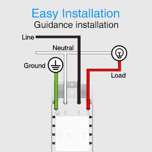 installation, smart switch, smart switch works with alexa, smart light switch 1