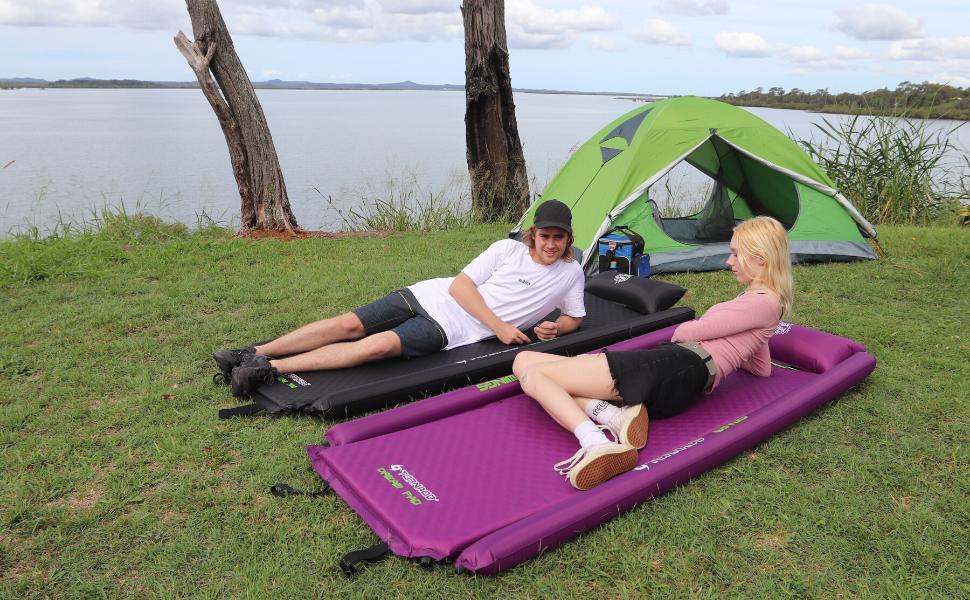 self inflating camping mats