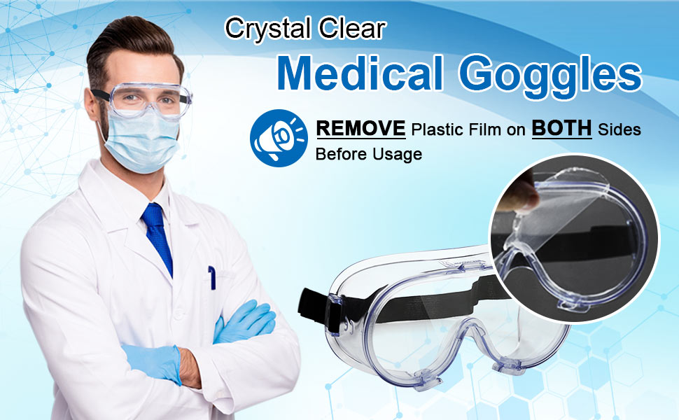 clear medical goggles