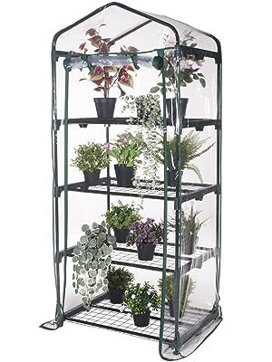 Verdelook, serra, 4 ripiani, balcone, terrazzo, porticato, pvc, trasparente, facile