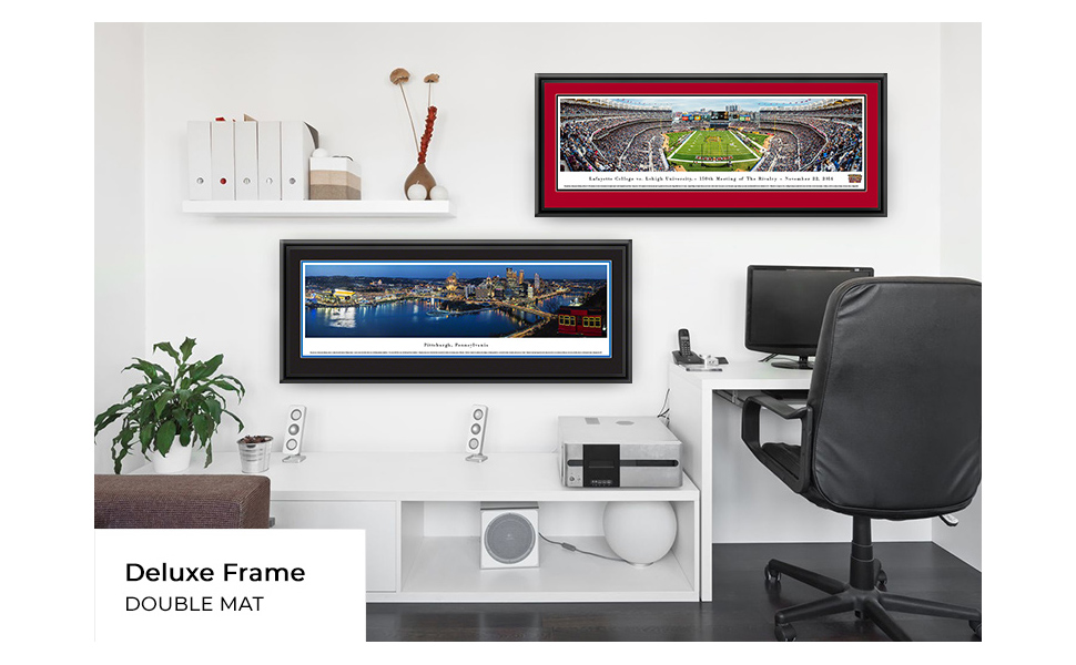 Amazon Com Lafayette Vs Lehigh 150th Anniversary Blakeway Panoramas College Sports Posters With Lafayette Deluxe Frame Sports Outdoors