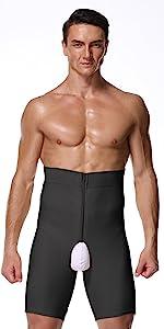 Men's Tummy Shaper High Waist Leg Control Shapewear Waist Slimming Shorts Brief