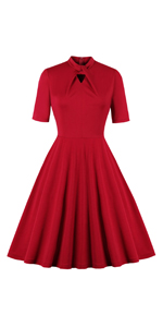 Bowknot Red Dress